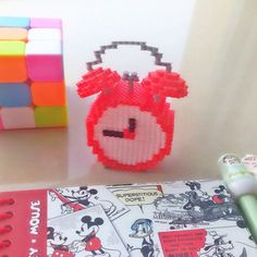 Alarm clock perler beads by chittyqy