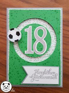 Stampin Up, SU, Stempelpanda, Kullerkarte, Spinner Card, Geburtstag, Fußball