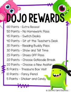 Class Dojo Rewards Menu Freebie and a blog post about behavior management!!