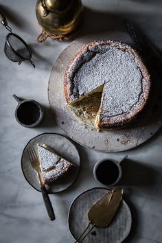 White Chocolate Ricotta Cheesecake with Lemon, Cardamom, and Nutmeg | Recipe, Photography, Styling by Beth Kirby of Local Milk | New Thanksgiving Classic