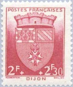 Sello: Dijon (Francia) (Coat of Arms) Yt:FR 559,Mi:FR 570,Sn:FR B141