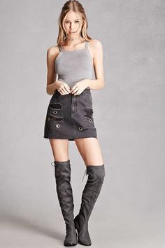 Yoki Suede Over-the-Knee Boots Fashion Model Poses, Fashion Models, Girl Fashion, Womens Fashion, Fashion Trends, Scarlett Leithold, Poses Photo, Girl Outfits, Cute Outfits