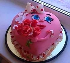 Photo By Homemade 'Chocolates n Cakes' - Cake Cupcakes, Cake Cookies, Cupcake Cakes, Menu Saint Valentin, Beautiful Cake Designs, Beautiful Cakes, Heart Cakes, Valentines Day Cakes, Different Cakes