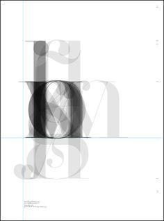 Letters are superimposed on top of each other so the most common shape of each letter is accentuated. I like how the faint and overlapping parts of the letters gives the piece a ghostly appearance. The designer is a collaboration between the company Three Types Graphics and Manuel Sesma. #typography #alphabet