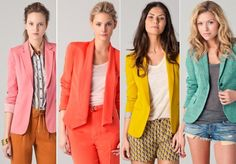 colorful blazers