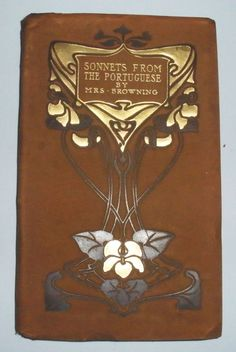 Sonnets From The Portuguese By Elizabeth Barrett Browning Art Nouveau Cover