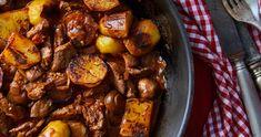 Vörösboros-gombás sertésragu recept | Street Kitchen