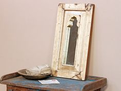 White  Framed Mirror from Scaramanga's vintage furniture collection