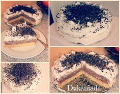 Tort cu cioco si bezea I Foods, Tiramisu, Ethnic Recipes, Cream, Tiramisu Cake