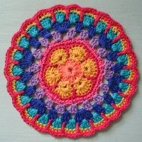 Crochet Mandala Wheel made by  Emma, North Yorkshire, UK for yarndale.co.uk