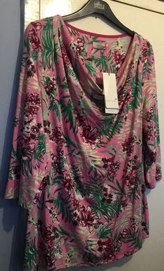 Marks And Spencer Women s Per Una Pink Mix Top/Blouse Size 22