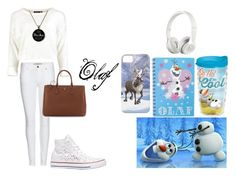 """""""olaf look"""" by cherlinanelemans on Polyvore featuring Burberry, Prada, Tervis, Disney, Converse and Beats by Dr. Dre"""