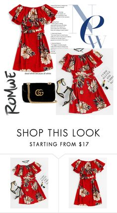 """""""Romwe contest"""" by melisa-j ❤ liked on Polyvore featuring Gucci"""