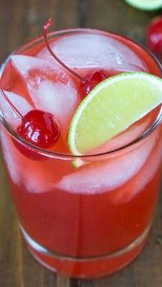 Cherry Limeade Margarita, a great summer drink to have after a long day at the office!