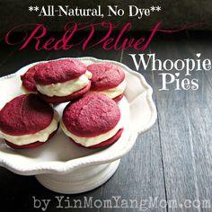 Red velvet whoopie pies (no artificial food coloring)