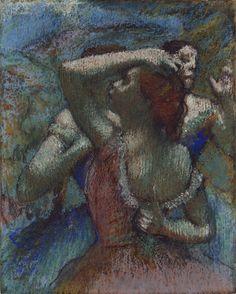 Edgar Degas – Dancers, ca. 1899, Pastel with charcoal, 58.8x46.3 cm | Princeton University Art Museum