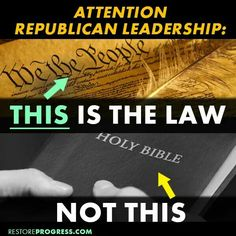 Separation of Church and State is the law. Religious freedom is the law, which cannot coexist within a nation governed by a single holy document.