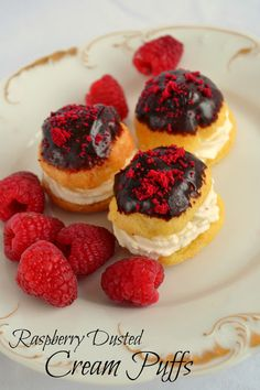 *Rook No. 17: recipes, crafts & whimsies for spreading joy*: The Perfect Valentine's Day Dessert ~ Raspberry Dusted Cream Puffs