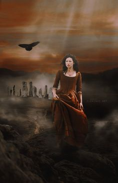 """EleWings Art on Twitter: """"New Fanart #Outlander with @caitrionambalfe Outlander continues to inspire me Thank you for creating this merveileuse history @Writer_DG"""