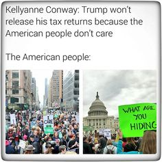 The National Tax March 2017 -- Polls and these Protests Show that the American People Care ... Release Your Tax Returns, Don the $Con$ Trump!!