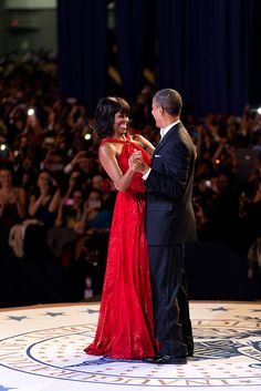 President Barack Obama and First Lady Michelle Obama dance together during the inaugural ball at the Walter E. Washington Convention Center in Washington, D.C., Jan. 21, 2013. (Official White House Photo by Pete Souza)