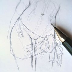 Do you want to buy a print of my drawings? Drawing Lessons, Drawing Techniques, Drawing Tips, Drawing Sketches, Drawing Female Body, Human Drawing, Anatomy Reference, Drawing Reference, Sketch Manga