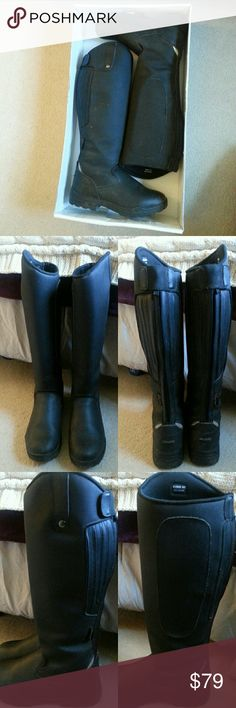 Horseback Winter Riding Boots Tuff Rider insulated winter horseback riding boots, size 10. Barely worn, like brand-new condition. A littl dirt on outsides and soles. In original box. Shoes Winter & Rain Boots