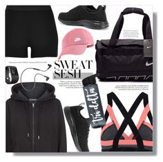 """Sweat Sesh"" by chocolate-addicted-angel ❤ liked on Polyvore featuring River Island, adidas, Athletic Propulsion Labs, NIKE, B&O Play, Fitbit, Fall, 2017, gymgear and sweatsesh"