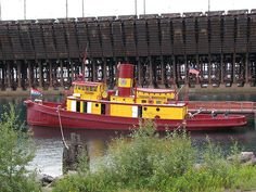 Edna G. Tugboat Museum, last coal-fed, steam-powered tugboat in operation on the Great Lakes, Lake County Historical Society, Two Harbors, MN.