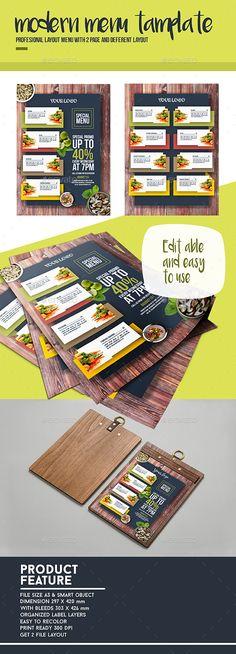 Template Menu - Food Menus Print Templates Download here : https://graphicriver.net/item/template-menu/17165287?s_rank=245&ref=Al-fatih