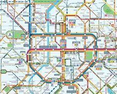 Brussels metro kart