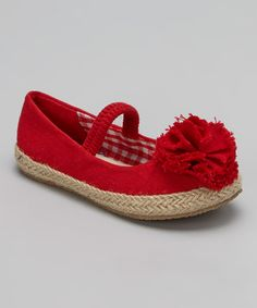 Look what I found on #zulily! Red Lulu Strap Flat by Launch #zulilyfinds