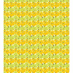 Marimekko Mini-Unikko Fabric Lime / Yellow  - Click to enlarge