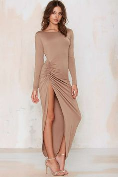 Found Love Slit Dress - Clothes | Best Sellers | Back In Stock | Midi + Maxi | Solid | Basic