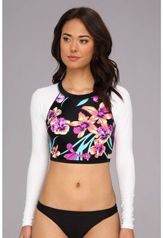 Roxy Spring Fling L/S Rashguard (True Black) - Apparel on shopstyle.com
