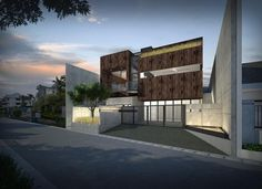 contemporary style house concept in Jakarta