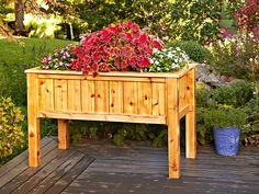 Raised Planter Box, Woodworking Plans, Outdoor, Planters, WOOD Issue May Intermediate Raised Garden Planters, Raised Planter Boxes, Planter Box Plans, Cedar Planter Box, Garden Planter Boxes, Wooden Planters, Outdoor Planters, Diy Planters, Raised Garden Beds