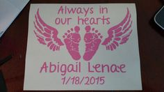 Angel Baby Car / Truck Decal by MelissasVinylDesigns on Etsy
