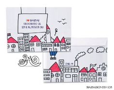 Handmade, drawing envelopes, great for cute snailmail.