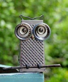 owl garden art More