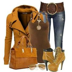 Fall•winter outfits  Timberlands,brown trench coat and skinny jeans