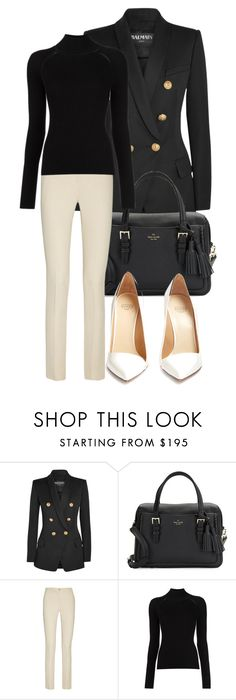 """""""Untitled #145"""" by anymalu ❤ liked on Polyvore featuring beauty, Balmain, Kate Spade, Etro, Misha Nonoo and Francesco Russo"""