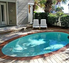 Our pool is green at this time. You may have a pool or hot tub built, so that is easily accessible to your family members. Once you choose the decking about your pool, there are a number of crucial considerations… Continue Reading → Small Inground Pool, Small Swimming Pools, Small Backyard Landscaping, Small Pools, Swimming Pools Backyard, Swimming Pool Designs, Small Backyards, Landscaping Ideas, Backyard Ideas