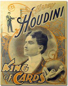Magician Posters; Houdini