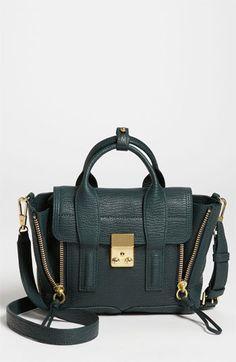 3.1 Phillip Lim 'Pashli - Mini' Leather Satchel available at #Nordstrom (the perfect green handbag!!!)