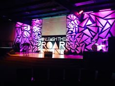 Stage Design Idea Foam Board Triangles Arranged Randomly