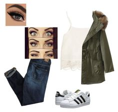 """""""❤️❤️❤️"""" by haileycouture ❤ liked on Polyvore featuring American Eagle Outfitters, Swell, WithChic, adidas Originals, women's clothing, women's fashion, women, female, woman and misses"""