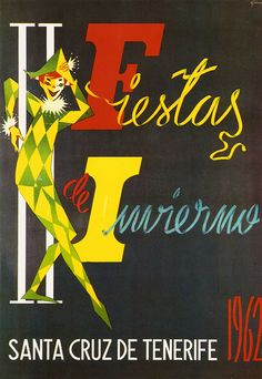Cartel Carnaval Santa Cruz de Tenerife Año 1962