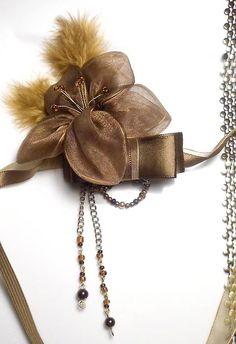 Vintage romantic feather diy headband hair piece on Sashe, romantická ručne robená vintage retro čelenka na Sashe - Let's Swing Swing..  čelenka