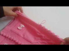 Burgulu Bebek Yeleği Nasıl Yapılır? (Baştan Sona Anlatım) - örgü modelleri - knitting pattern - YouTube